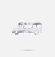 School bus symbol study icon transport vector