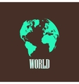 With a world map vector