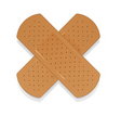 Bandaid on white apply a plaster vector