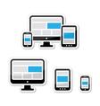 Responsive design for web - computer screen vector