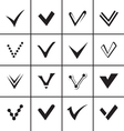 Confirm signs and tick icons set vector