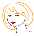 Woman face drawing 4 vector