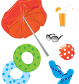 Beach items vector
