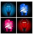 Bulb lamp set vector
