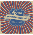 Independence day retro style vector