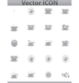 Brown coffee icons set cup and cafe icon vector