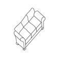 Isolated modern sofa vector
