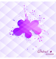 Abstract blot on a triangular background vector