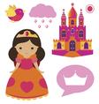 Princess clip art set vector