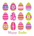 Easter eggs in vector
