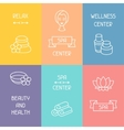 Spa and recreation business cards with icons in vector