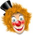 Redheaded clown vector