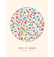 Colorful branches circle decor pattern background vector
