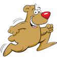 Cartoon bear running vector