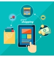 Shoping flat icon vector