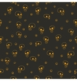 Halloween party skull background seamless pattern vector