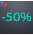 50 percent discount icon symbol 3d style trendy vector
