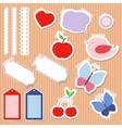 Set of cute scrapbook elements vector