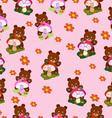 Children seamless bears for girls vector