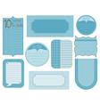 Set of design elements - vintage frames and tags vector