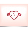 Heart with arrow and polka dot vector