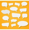 Set of various abstract speech bubbles vector