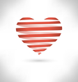 Red spiral heart on grayscale vector