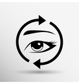 Eyelashes eyebrows eyelash eye icon makeup vector
