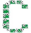 Alphabet football letter vector