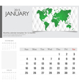 Simple 2015 calendar january vector