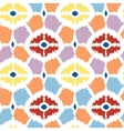 Colorful diamonds ikat geometric seamless pattern vector