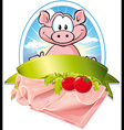 Natural meat label vector