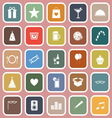 Party flat icons on pink background vector