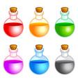 Round bottles vector