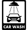 Black car wash icon vector