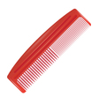 Red comb vector