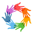 Right hand print icon 7 colors vector