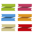 Ribbons set for text differents colors vector