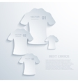 Modern t-shirt background vector