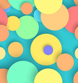 Abstract seamless circles background vector