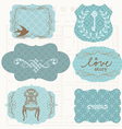 Vintage design elements for scrapbook - old tags a vector