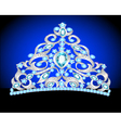 Tiara crown womens wedding vector