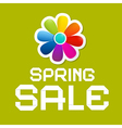 Spring sale green background vector