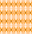 Floral pattern seamless orange vector
