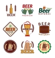 Beer colored emblems vector