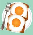 Breakfast eggs vector