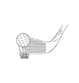 Sketch of the golf ball and golf club vector