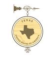 Vintage label texas vector