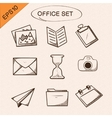 Office stationery symbols set vector