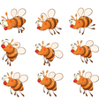 Set of bees cartoon vector